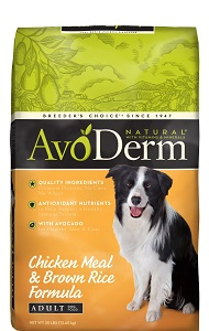 Chicken Meal and Brown Rice Formula from AvoDerm