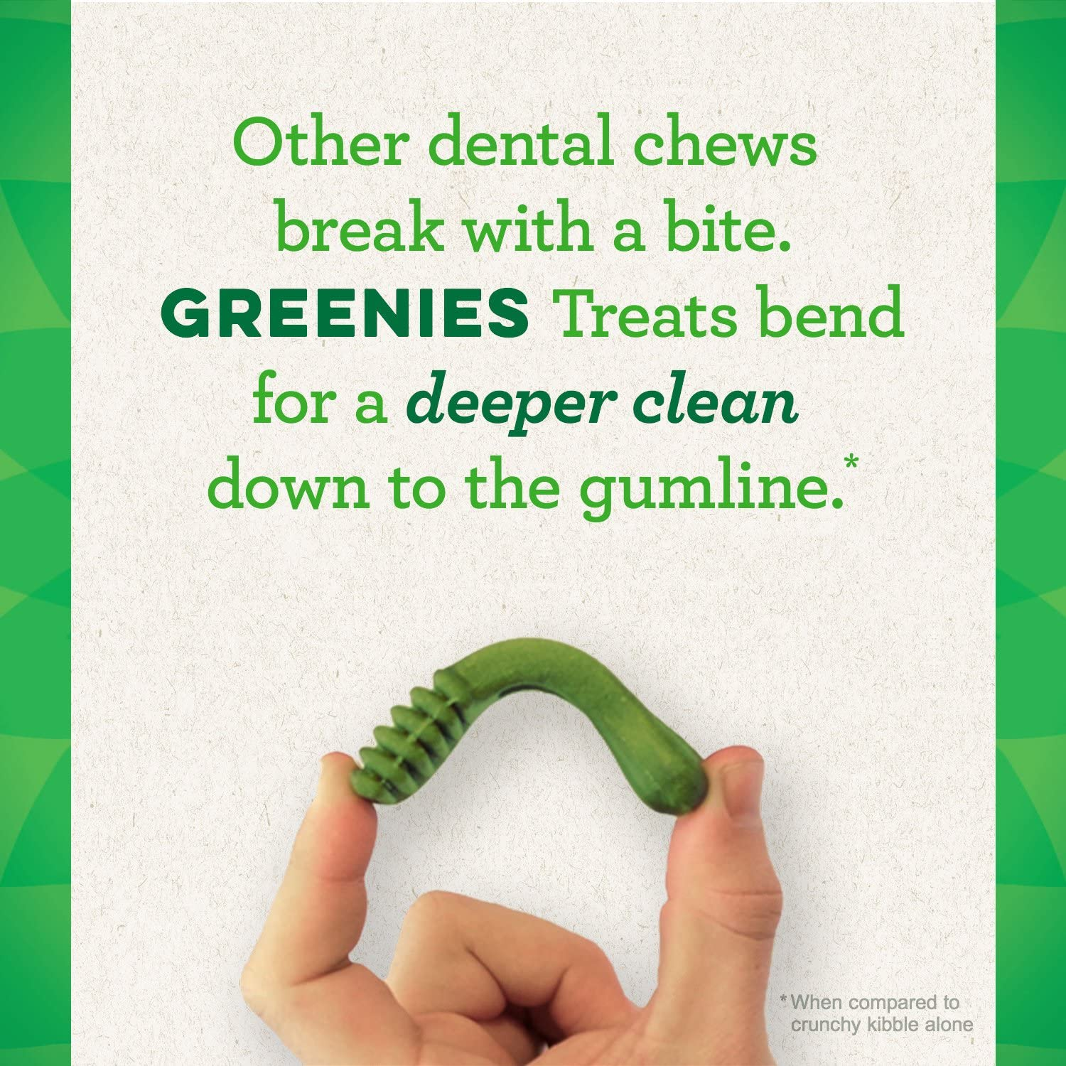 picture of a bendy Greenies treat